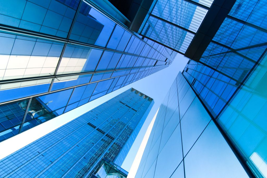 11393739 - transparent glass wall of office building